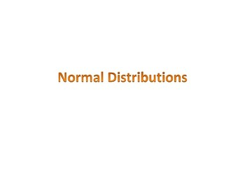 Normal Distribution Intro