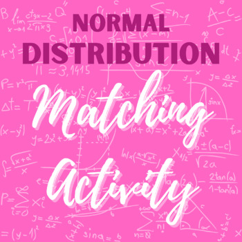 Normal Distribution - Matching Activity