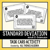 Normal Distribution, Standard Deviation, Z-Scores Task Cards