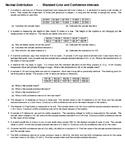 Normal Distribution – Standard Error and Confidence Intervals