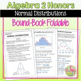 Normal Distributions Foldable