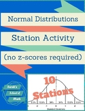 Normal Distributions Station Activity (No z-scores req) (% used: 34, 13.5, 2.5)