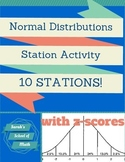 Normal Distributions Station Activity: 10 stations! (with z-scores)