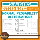 Normal Probability Distributions - INB Activities & Scaffo