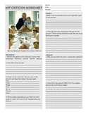 """Norman Rockwell """"Freedom From Want"""" Art Criticism Worksheet"""