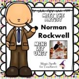 Norman Rockwell Activities- Famous Artist Biography Art Unit - Thanksgiving