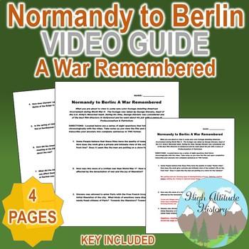 Normandy to Berlin: A War Remembered (Stevens) Original Video Guide Questions