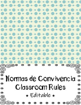 "Normas de Convivencia ""Spanish"" / Classroom Rules ""English"""