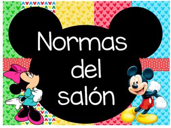 Normas del Salón Motivo Mickey