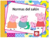 Normas del Salón Motivo Peppa pig