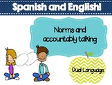 Norms and accountability Talking - Spanish and English