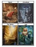 Norse Mythology Vocabulary Word Wall Cards
