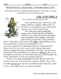 Norse Info Text and Coloring Project Thor's Hammer Yggdrasil Ask Embla Slepnir++