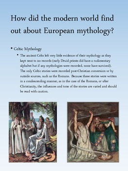 Norse and Celtic Mythology