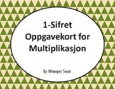 Norsk: 1-Sifret Oppgavekort for Multiplikasjon