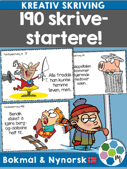 Norsk: 190 skrivestartere for kreativ skriving! [BM & NN]