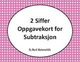 Norsk: 2 Siffer Oppgavekort for Subtraksjon