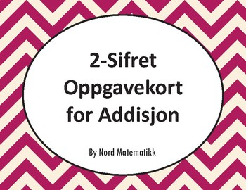 Norsk: 2-Sifret Oppgavekort for Addisjon