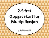 Norsk: 2-Sifret Oppgavekort for Multiplikasjon
