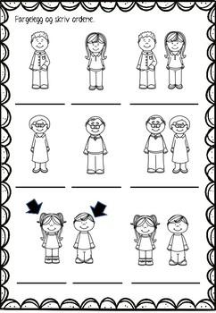 Norsk 2 - tema FAMILIE 1 - hefte