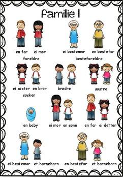 Norsk 2 - tema FAMILIE 1 - ordbank