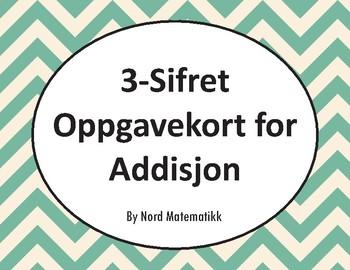 Norsk: 3-Sifret Oppgavekort for Addisjon