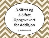 Norsk: 3-Sifret og 2-Sifret Oppgavekort for Addisjon