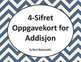 Norsk: 4-Sifret Oppgavekort for Addisjon