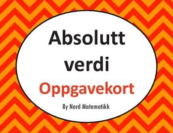 Norsk: Absolutt verdi Oppgavekort