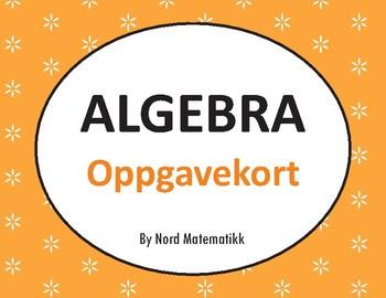 Norsk: Algebra Oppgavekort