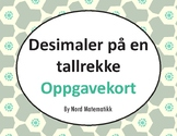 Norsk: Desimaler på en tallrekke Oppgavekort