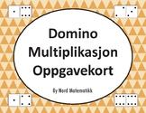 Norsk: Domino Multiplikasjon Oppgavekort