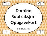 Norsk: Domino Subtraksjon Oppgavekort