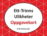 Norsk: Ett-Trinns Ulikheter Oppgavekort