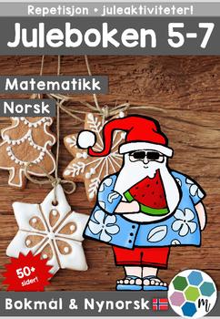 Norsk: Juleboken 5-7 - norsk, matte, engelsk og oppgaver m