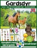 Norsk: Gårdsdyr - Matematikk, lese- og skriveopplæring [BM & NN]