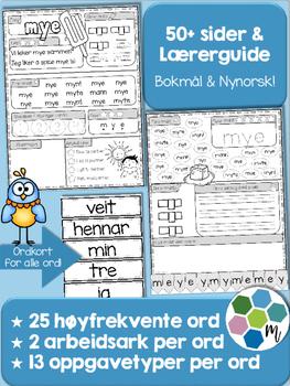 Norsk: Høyfrekvente ord - pakke 6: ord 126-150
