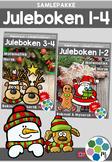 Norsk: Juleboken - SAMLEPAKKE 1-4 - norsk, matte og oppgaver med juletema[BM&NN]