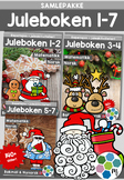 Norsk: Juleboken - SAMLEPAKKE 1-7 - norsk, matte og oppgaver med juletema[BM&NN]