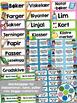 Norsk Klasseromsdekor - Brun pakke - Merkelapper, kalender