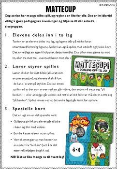 Norsk: Mattecup 4 - 4-gangen [Vi spiller-serien] [BM&NN]