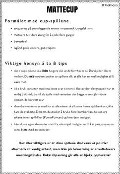 Norsk: Mattecup 7 - 7-gangen [Vi spiller-serien] [BM&NN]