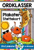 Norsk: Ordklasser - Plakater & støttekort! [BM & NN]