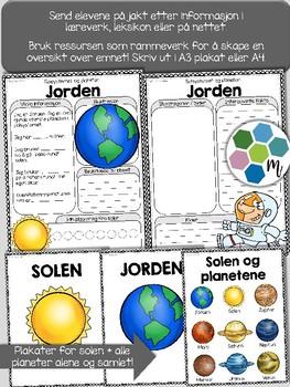 Norsk: Planetene - Solsystemet