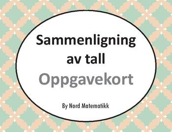 Norsk: Sammenligning av tall Oppgavekort