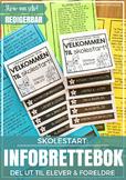 Norsk Skolestart - INFOBRETTEBOK - Mal for å lage egen bok!