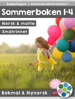Norsk: Sommerboken 1-4 - norsk, matte og sommeraktiviteter