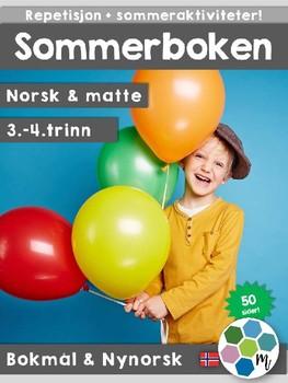 Norsk: Sommerboken 3-4 - norsk, matte og sommeraktiviteter