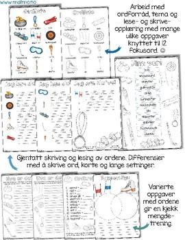 Norsk: Vinteridrett utstyr - lese- og skriveopplæring [BM & NN]