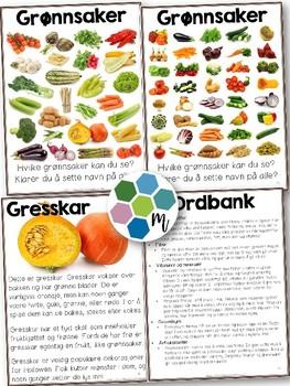 Norsk faktabok: Grønnsaker! Lesing, naturfag og mat&helse! [BM & NN]